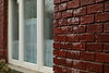 Freezing rain on bricks
