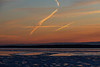 Contrails over the south shore of the Bay of Quinte