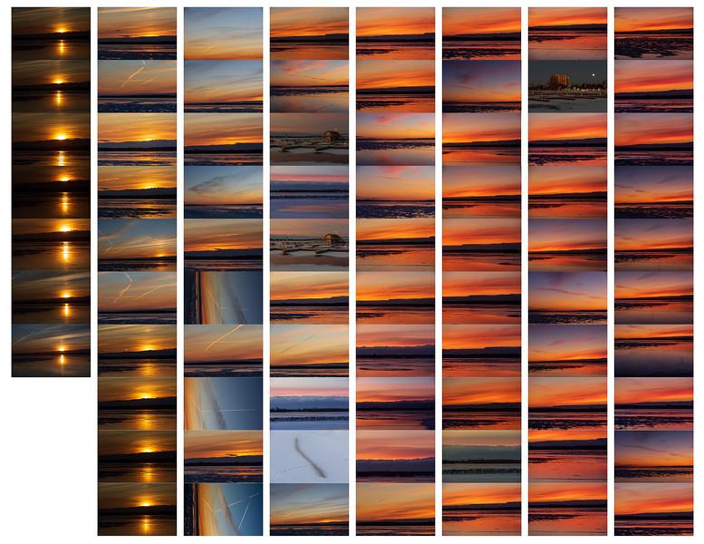 2019 December 12 sunrise photos contact sheet Paul Lantz taken at Jane Forrester Park