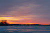Sky before sunrise over the Bay of Quinte 2019 February 27.