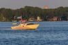 Bay of Quinte Yacht Club boat on the bay. BQYC