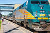 Arrival of VIA rail passenger train 50/60 at Belleville. VIA 902.
