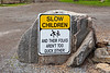 Slow Children..and their folks aren't too quick either! sign at Campbell's Orchards Rednersville