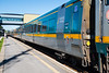Departure of VIA Rail train 50/60 from Belleville Ontario.