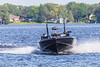 Fast boat on the Bay of Quinte.
