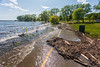 Bay of Quinte shoreline at West Zwicks Park 2019 June 3.