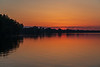 Looking east along the north shore of the Bay of Quinte before sunrise.