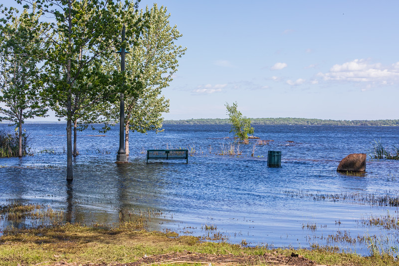 Path along the Bay of Quinte underwater.