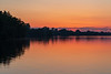 View along the Belleville shoreline of the Bay of Quinte before sunrise.