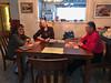 Denise Lantz, Joan and Edmund Metatawabin at dining table 2019 March 21