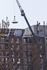 Crane working at the Prince William apartments.