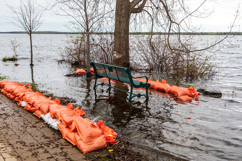 Path around Turtle Pond showing high water on the Bay of Quinte.
