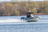 Ontario Provincial Police boat on the Bay of Quinte 2019 May 5