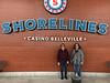Patricia Faries and Denise Lantz at Shorelines Casino Belleville