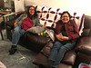 Denise Lantz and Patricia Faries in living room