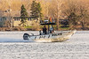 Ontario Provincial Police boat on the Bay of Quinte 2019 May 5. White balance off hull