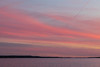 View up the Bay of Quinte after sunset.