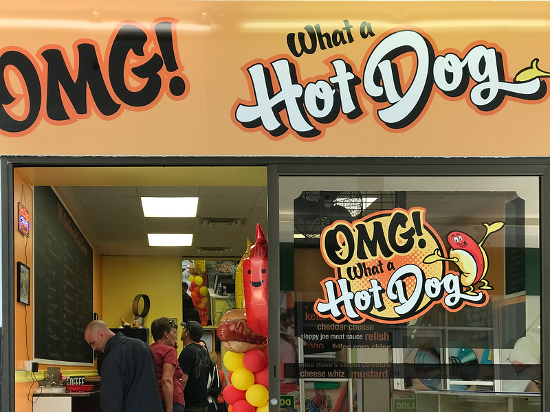 OMG What a Hot Dog restaurant at Bayview Mall