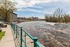 View down the Moira River towards the Sagonaska Bridge (Pinnacle Street).
