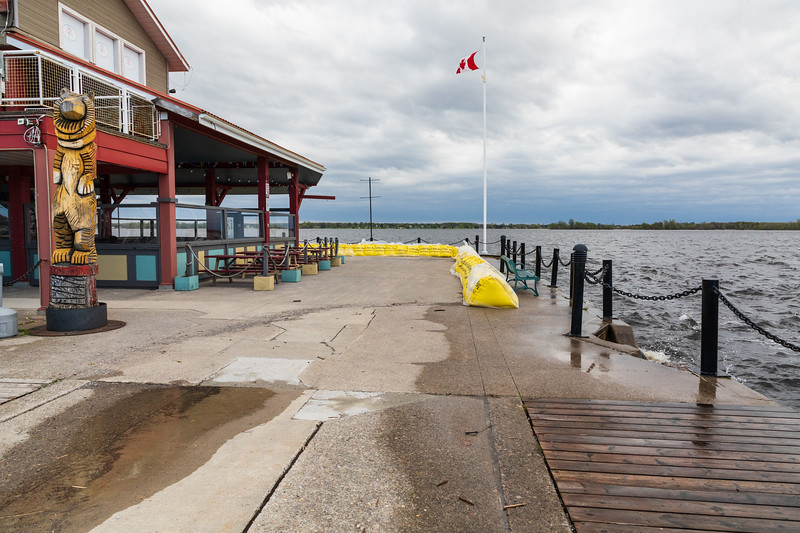 High water at Meyers Pier