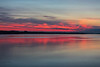 Purple skies and water down the Bay of Quinte before sunrise.