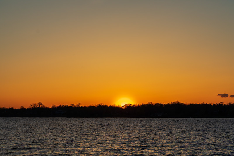 Sunset across the Bay of Quinte.