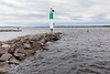 Bay of Quinte, light house at Meyers Pier breakwater.