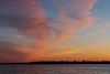 Clouds up the Bay of Quinte after sunset 2019 May 7.