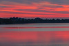 Purple skies over East Belleville reflected in the Bay of Quinte before sunrise 2019 May 29.