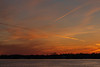 After sunset on the Bay of Quinte at Belleville Ontario