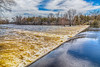 The Moira River at the Corbyville Dam. Pseudo HDR bright