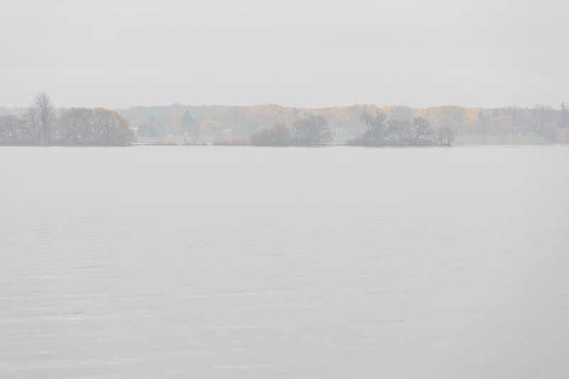 South shore of the Bay of Quinte on a cloudy morning 2019 October 31.