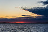 Clouds close up a few minutes after scheduled sunrise time down the Bay of Quinte.