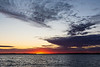 Wide view down the Bay of Quinte at scheduled sun rise time. 2019 September 30