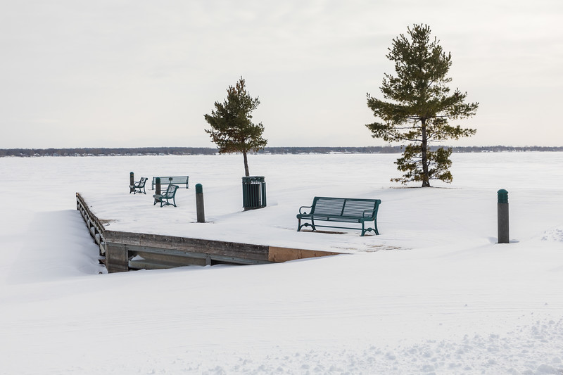Seating at Herchimer Boat launch in Belleville Ontario