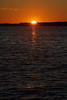 Reflection of the rising sun on the water of the Bay of Quinte.