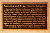 Plaque honouring Susanna and J. W. Dunbar Moodie at Jane Forrester Park