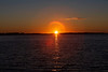 Sunrise across the Bay of Quinte 2020 August 31 lots of artifacts (flare)