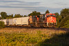 Canadian National Railways freight train led by ET44AC 3276 and C44-9W 2585 approaches Mitchell Road in Belleville Ontario.