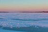 Looking up the Bay of Quinte to the Norris Whitney Bridge at sunrise 2021 January 27