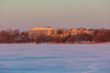 Belleville General Hospital from the Bay of Quinte at sunrise