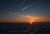 Contrails at sunrise 2020 February 24.