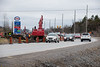 Roadwork on Bell Boulevard west of the Shorelines Casino. Widening to four lanes. 2020 March 31.