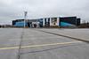 Quinte Mall parking lot almost empty 2020 March 31. Galaxy Cinemas.