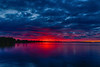 Wide view of the Bay of Quinte before sunrise HDR efx dark