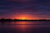 Purple sky colour around sunrise