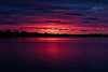 Purple sky reflected in the Bay of Quinte before sunrise 2020 May 31