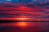 Before sunrise along the Bay of Quinte purple sky is reflected in the water. 2020 May 31.