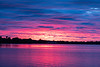 Purple sky reflected in the Bay of Quinte before sunrise HDR sequence shot