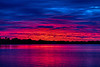 Purple sky reflected in the Bay of Quinte before sunrise HDR efx dark